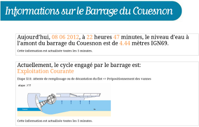 echelle evaluation barrage et intensité